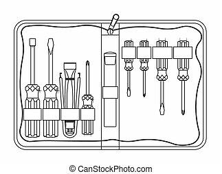 Tool kit maintenance. vector or fully editable illustration.