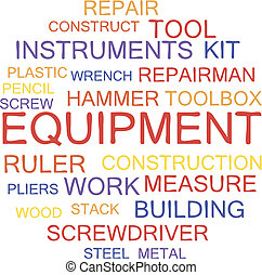 tool kit word cloud, collage concept. Vector illustration.