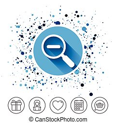 tool., navigation., zoom, sinal, vidro, magnifier, icon.