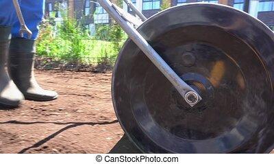 tool., nierówny, strzał, niwelacja, gleba, stabilizator,...