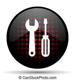 tool red glossy web icon