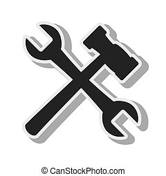 tool repair hammer design isolated