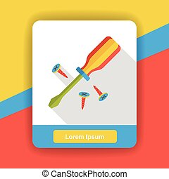 tool screwdrivers flat icon