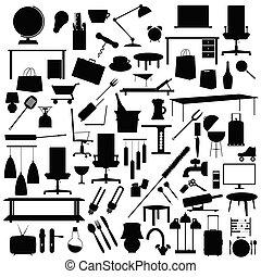 tool set in black color illustration on white background