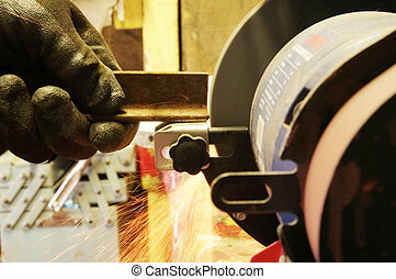 Tool sharpening on a sandpaper manually