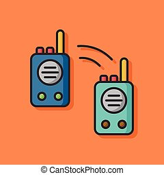 tool walkie vector icon