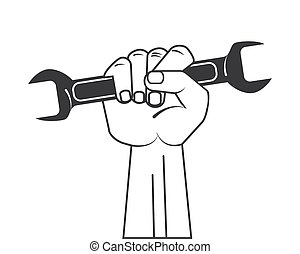 tool wrench hand design