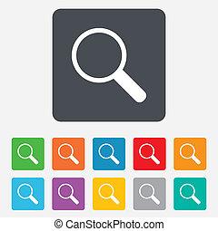 tool., zoom, segno, vetro, magnificatore, icon., navigazione