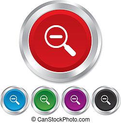 tool., zoom, zeichen, glas, vergrößerungsglas, icon., schifffahrt
