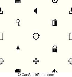 toolbar, modèle, icon., seamless, fond