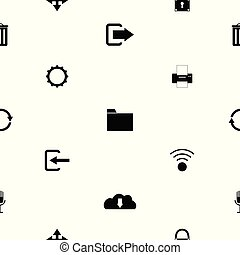 toolbar seamless pattern background icon.