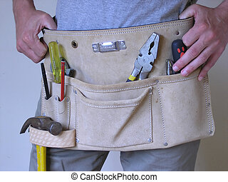 Toolbelt - Man wearing toolbelt.