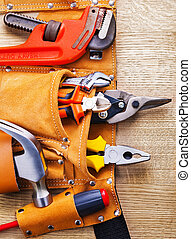 toolbelt with construction toolshammer screwdriver nippers ...