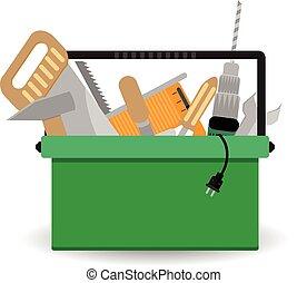 toolbox, com, instrumento
