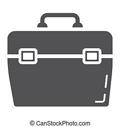 toolbox, glyph, ikon, bygga, och, reparera, toolkit, underteckna, vektor, grafik, a, fast, mönster, på, a, vit fond, eps, 10.