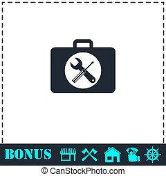 Toolbox icon flat