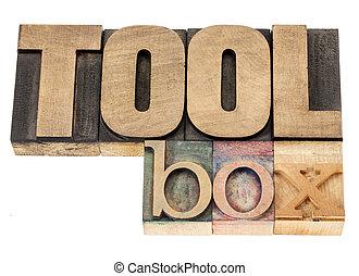 toolbox in wood type