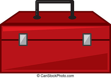 Toolbox - Isolated red toolbox cartoon closed