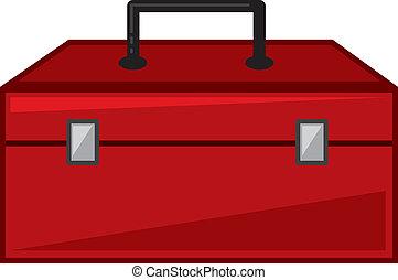 Toolbox - Isolated red toolbox cartoon closed