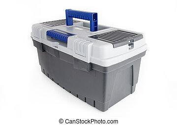 toolbox, isolerat, vita, bakgrund
