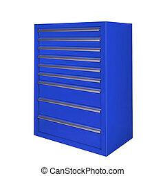 toolbox, isolerat, vita