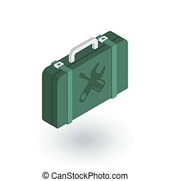 Toolbox isometric flat icon. 3d vector