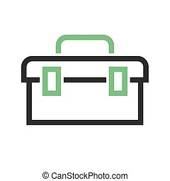 Toolbox, kit, toolkit icon vector image. Can also be used...