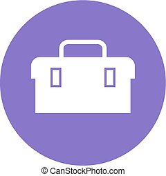 Toolbox, kit, toolkit icon vector image. Can also be used ...