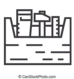 Toolbox line icon on white background