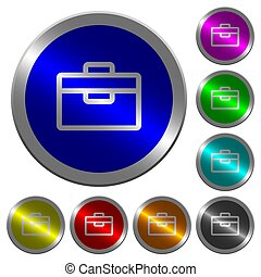 Toolbox luminous coin-like round color buttons