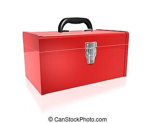 toolbox, röd