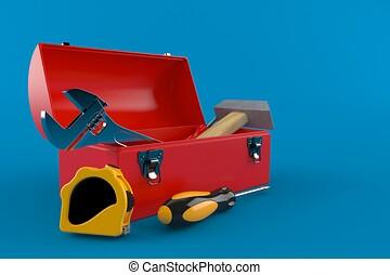 toolbox, redskapen