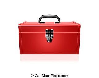 toolbox, rood