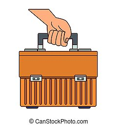toolbox, segurando mão