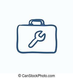 Toolbox sketch icon.