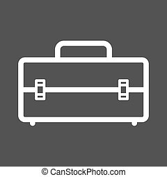 Toolbox - Tool, box, container icon vector image. Can also...