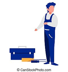 toolbox, trabalhador, mecânico
