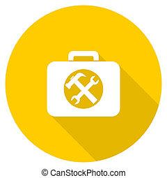 toolkit flat design yellow web icon