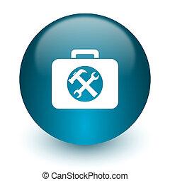 toolkit icon - blue glossy web icon