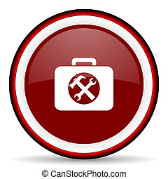 toolkit round glossy icon, modern design web element