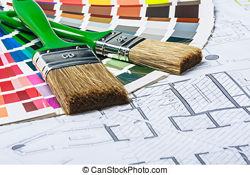 tools and accessories for home renovation on an...