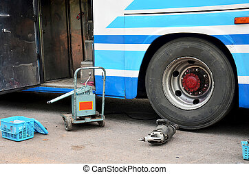 Tools and equipment for repairing and fix change wheel tire ...