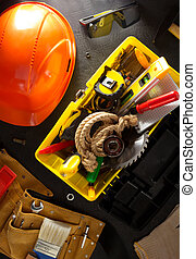 tools and instruments in toolbox - tools and instruments...