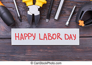 Tools and Labor Day card.
