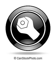 tools black glossy icon