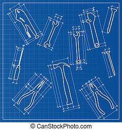 Tools blueprint sketch
