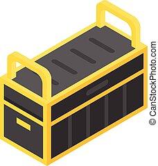 Tools box icon, isometric style