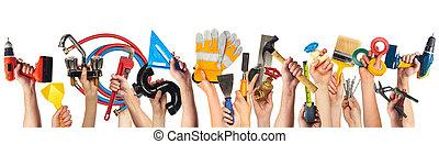 tools., bricolage, mani