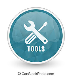 Tools brillant crystal design round blue web icon.