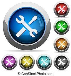 Tools button set